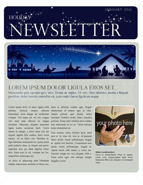 Christmas Newsletter Template Free Church Newsletter Templates For Microsoft Word