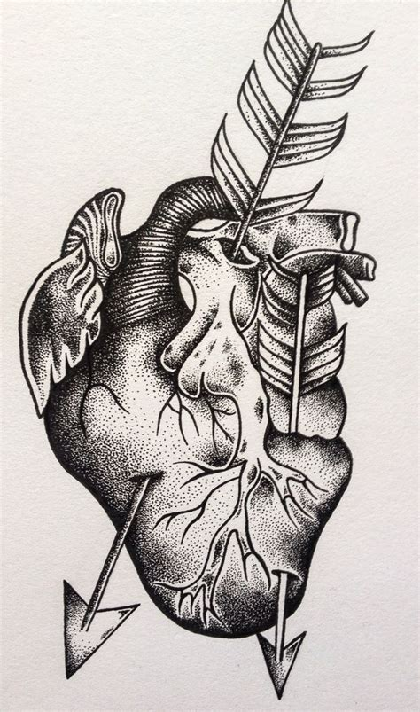 anatomically correct heart tattoo 50 best dotwork images on designs