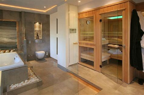 luxus sauna für zuhause planung badezimmer idee