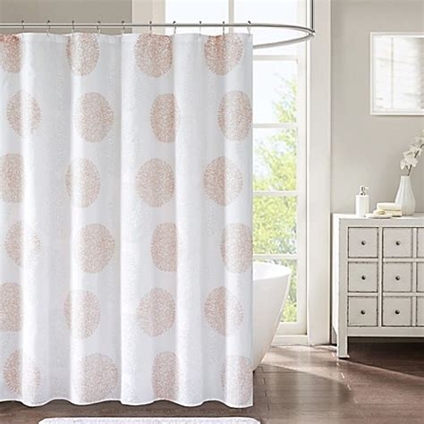 blush shower curtain lisbon shower curtain in blush bed bath beyond