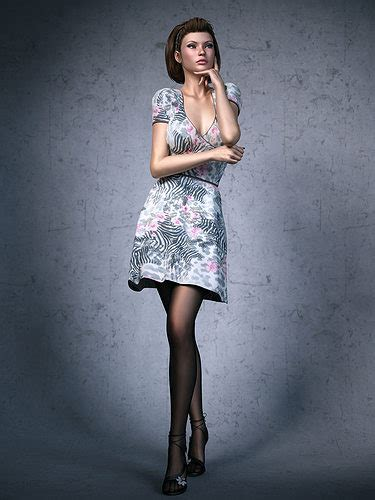 dress girl cgtrader