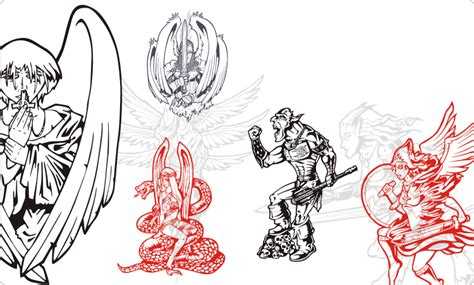 warrior angel free clipart clip art library