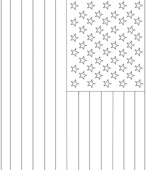 american flag template summer coloring pages