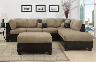 Couches Sectional Sofa Sectional Sofa Furniture Microfiber Sectional 3 Pc Living Room Set 6 Color Ebay