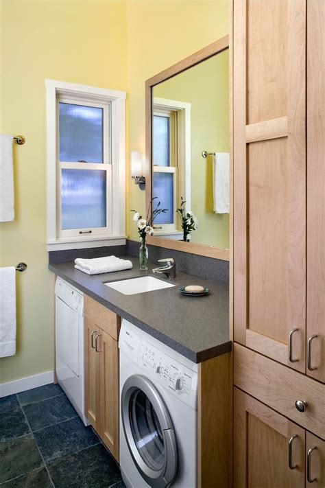 washer and dryer in bathroom small bathroom design with washer and dryer laundry or mud