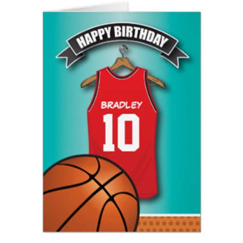 printable birthday cards basketball basketball birthday cards invitations zazzle co uk