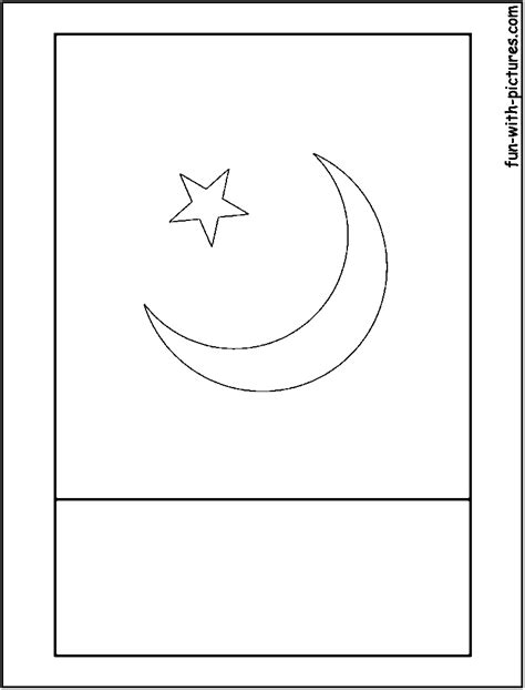 pakistan flag coloring page