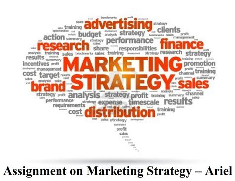 Courses On Marketing by Assignment On Marketing Strategy Ariel Assignment Help