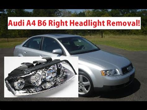 audi a4 headlight bulb audi a4 b6 right passenger headlight removal replacement