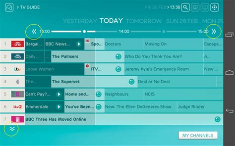 using my tv guide with ee tv