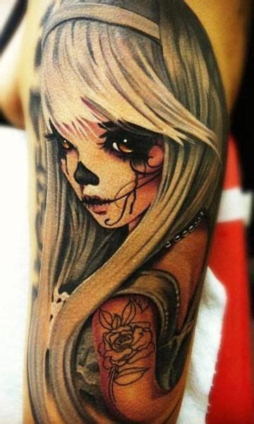 pin up doll tattoos skull doll 171 inked inspiration a collection of