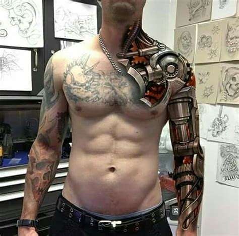 robotic arm tattoo pin by s lacu on tetov 225 l 225 sok tatoo