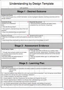 Unit Planning Template by Understanding By Design Template Https Psmlaonlinepd