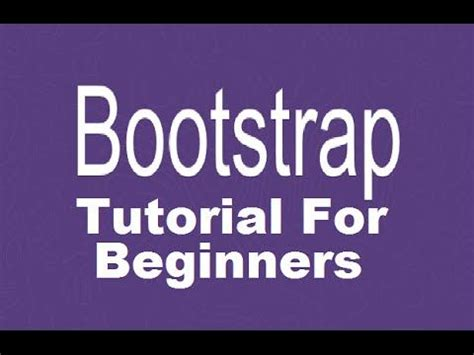 bootstrap tutorial for beginners step by step bootstrap tutorial for beginners programmingknowledge