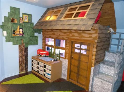 Minecraft Bedroom Furniture Real by Bedroom Created For A Minecraft Obsessed Child Rooms For Youth Play Houses