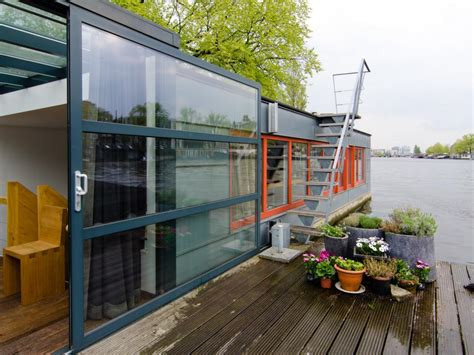 houseboat airbnb 15 stylish houseboats for sale and for rent hgtv