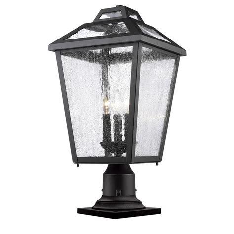 Pier Mount Outdoor Lighting Filament Design Wilkins 3 Light Black Outdoor Pier Mount Cli Jb048179 The Home Depot