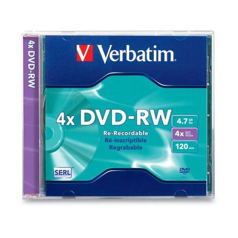 Dvd Rw Verbatim Casing 4x 4 7gb verbatim dvd rw 4 7gb 4x 1pk 94836