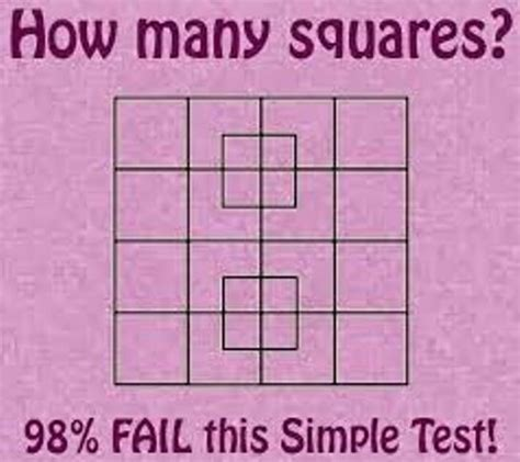 how many square is a 10 by 10 room brain teaser for the smart how many squares can you see passnownow