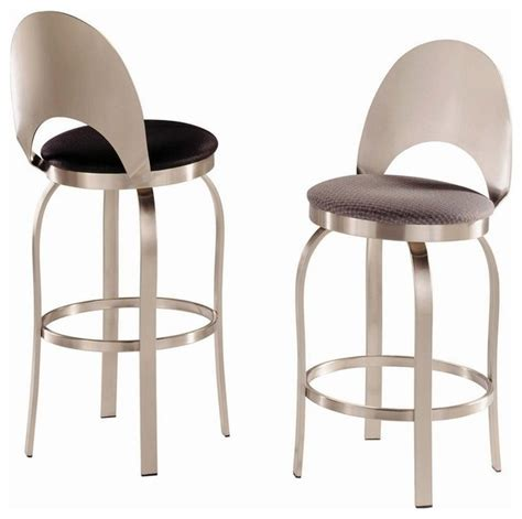 Stainless Steel Bar Stools Swivel by Trica Chagne Swivel Bar Stool Brushed Steel