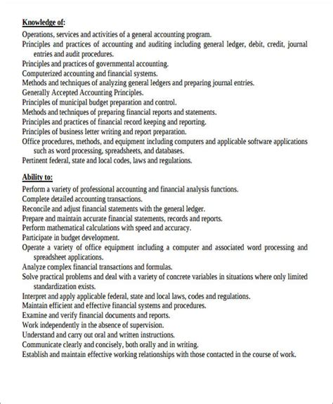 resume format for experienced staff 26 accountant resume format