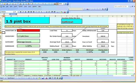Inventory Spreadsheet Template For Excel Spreadsheet Templates For Business Inventory Template Exle