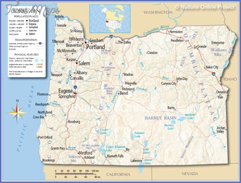 oregon map usa oregon map toursmaps