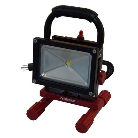 husky 5 ft 800 lumen portable led work light k40010 the