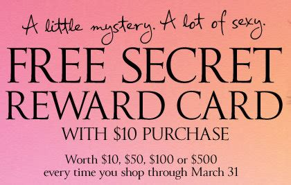 Victoria Secret Gift Card Kroger - victoria s secret free secret reward card is back get at least 10 with any 10