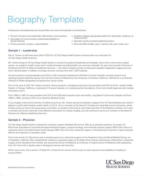 biography form template download biography template for free formtemplate