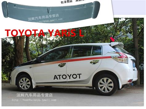 Spoiler All New Yaris 2014 With L spoiler for toyota yaris l 2014 2015 2016 2017 high quality rear wing spoilers trunk lid