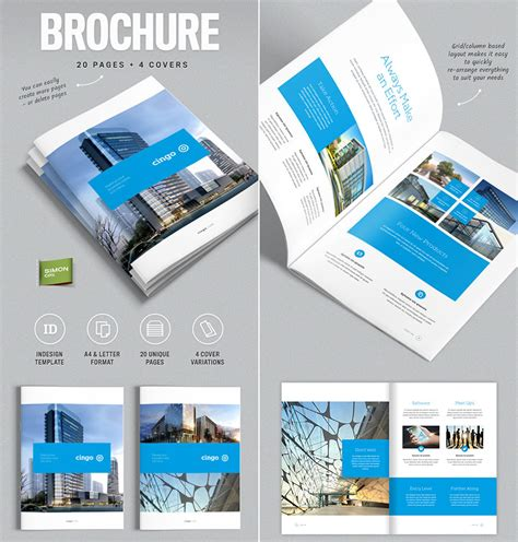 20 Best Indesign Brochure Templates For Creative Business Marketing Adobe Indesign Brochure Templates Free