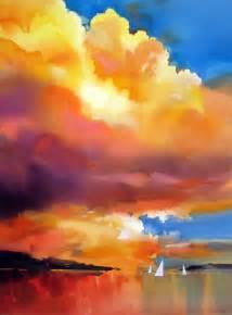water color sunset sunset sail joe cibere watercolor