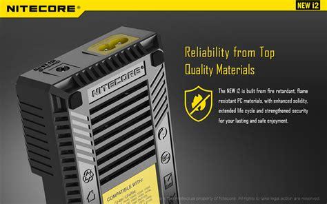 Nitecore Intellicharger Universal Battery Charger Isi 2 Bat Slot I2 nitecore intellicharger universal battery charger 2 slot