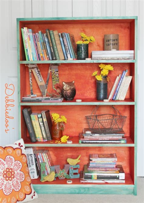 painting a book shelf with rit dye debbiedoo s