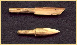 wooden needles