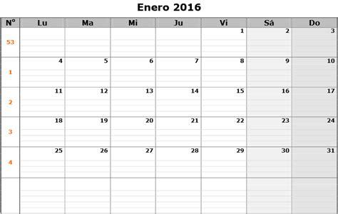 Calendario 2017 Para Imprimir Por Meses Imprimir Calendario Para Anotar Mes Por Mes 2016 Universo