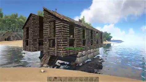 ark alpha boat ark survival evolved the new houseboat youtube