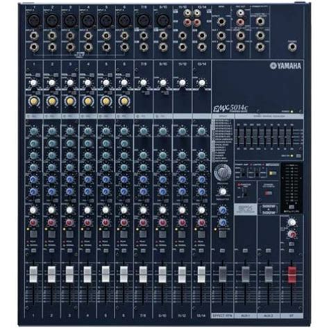 table de mixage yamaha 16 pistes yamaha emx5014 2 x 500 w woodbrass