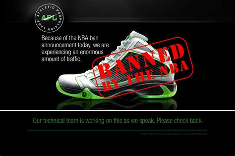 basketball shoes banned from nba are your sneakers a limiting factor