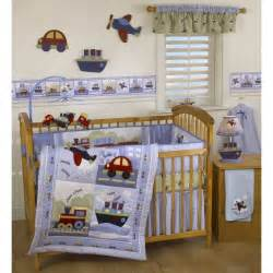 Nursery Bedding Sets Boys Travel Time Crib Bedding Set Themed Bedroom Ideas