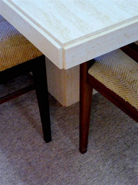 travertine dining room table travertine dining table for sale at 1stdibs