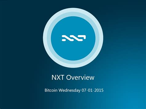 bitcoin nxt nxt cryptocurrency explained by alexander chepurnoy