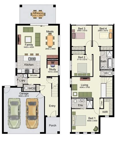 duplex floor plans with double garage duplex small house design floor plans with 3 and 4 bedrooms