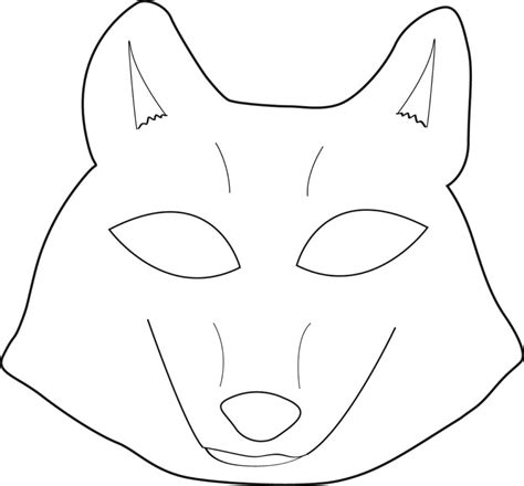 wolf mask coloring page best photos of wolf mask template printable wolf mask