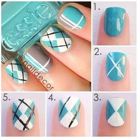 nail art design tutorial painting wedding nail designs plaid nail art i have to get this