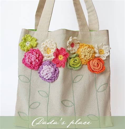 Tote Bag The Flower dada s place crochet