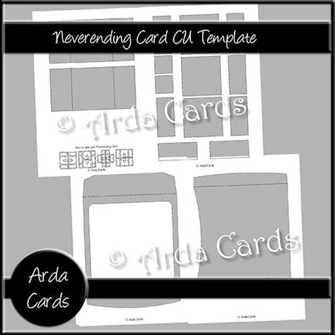 Never Ending Card Template Printable by 6x6 Neverending Card Cu Template