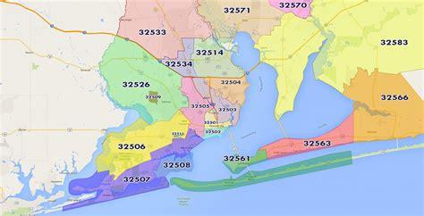 zip code map pensacola fl pensacola zip code map my blog