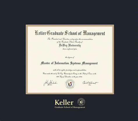 Devry Keller Mba by Custom Diploma Frames Certificate Frames Framing